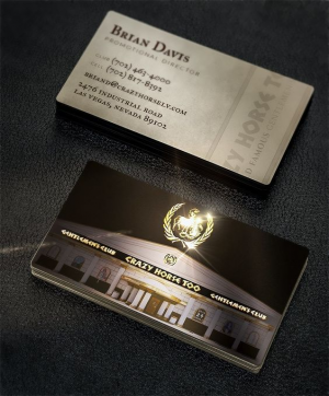Pinscript index gold foil stamped business card design for infamous las vegas casino colourmoves